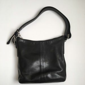Vintage Coach 9326 Black Leather Handbag